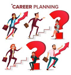 Career planning hr concept find new job vector