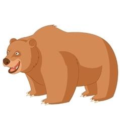 Cartoon smiling bear vector image