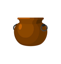 cauldron empty pot isolated metal boiler magic vector image