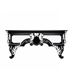 Classic royal ornament table furniture vector