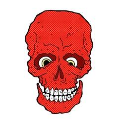 Comic cartoon spooky skull vector