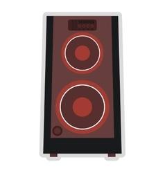 Concert speakers icon vector