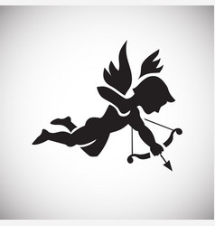 cupid on white background vector image
