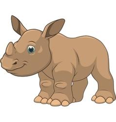 Cute little rhino vector