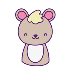 cute teddy bear toy cartoon icon vector image