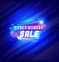 Cyber monday sale sticker discount banner special vector