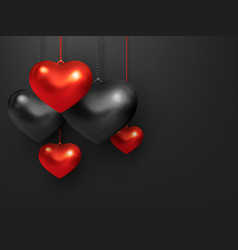 decorative love concept for valentines day vector image