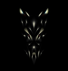 Devil face background vector image