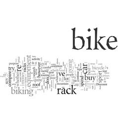 Discount bike racks your key to safe journeys vector