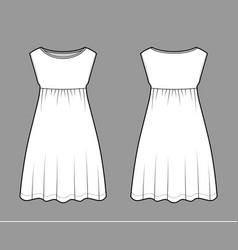 Dress babydoll technical fashion vector