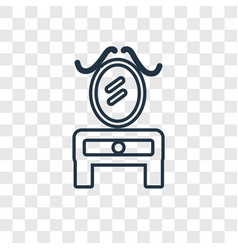 dressing table concept linear icon isolated on vector image