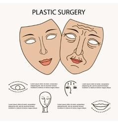 Facial plastic surgery concept vector