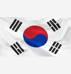 flag republic korea vector image