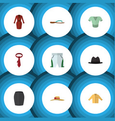 Flat icon clothes set of trunks cloth elegant vector