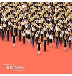 Flat of women business community a crowd of women vector