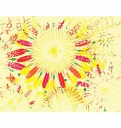 flower grunge vector image