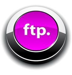 FTP 3d round button vector