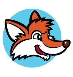Funny cartoon fox vector