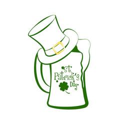 green beer glass vector image