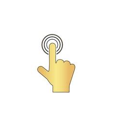 Hand click computer symbol vector