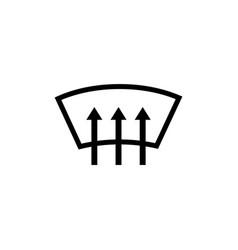 heated car window windshield arrows flat vector image