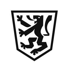 heraldic lion on shield vector image