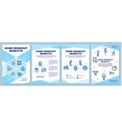 Home workout benefits brochure template vector