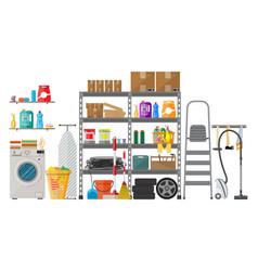 Interior of modern storeroom vector