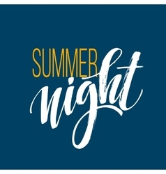 Long Hot Summer Night Typography Design vector