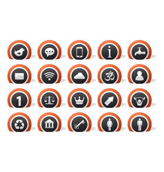 lot icons vector image