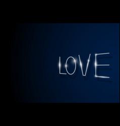 love is in light vector image