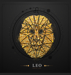 Magic witchcraft card with leo zodiac sign vector