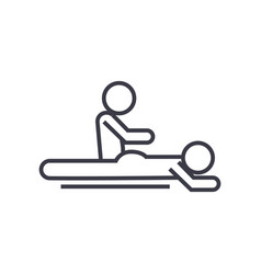 Massage spa therapy linear icon sign symbol vector