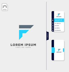 minimal f initial logo template free business vector image