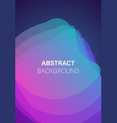 modern futuristic geometric cover template vector image