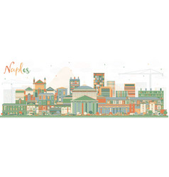 naples italy city skyline with color buildings vector image