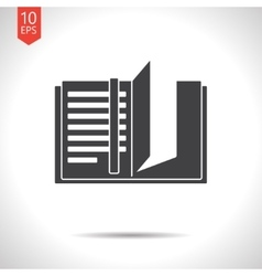 notebook icon Epsflat black0 vector image