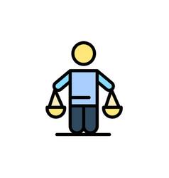 Patent conclusion court judgment law flat color vector