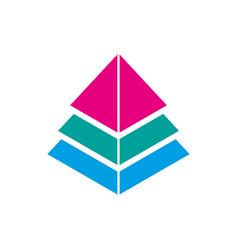 Pyramid symbol icon logo eps 10 vector