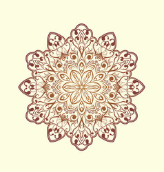 Radial floral pattern vector