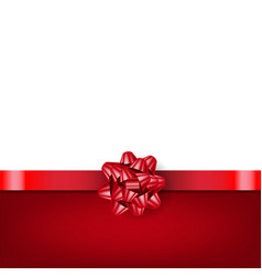 red bow with ribbon isolated white background vector image