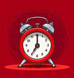 Ringing vintage alarm clock vector image