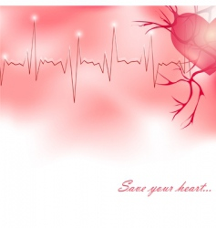 Save your heart vector