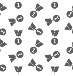 Simple icon medals seamless pattern on white vector