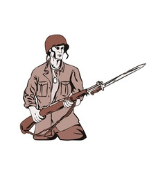 Soldier with Bayonet vector