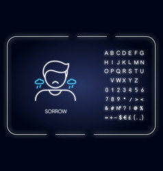 Sorrow neon light icon vector