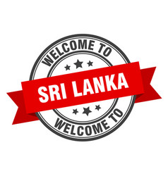sri lanka stamp welcome to sri lanka red sign vector image
