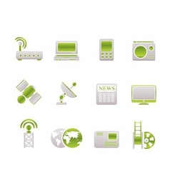 Technology and communications icons vector