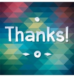 Thank you lettering rewarding postcard vector
