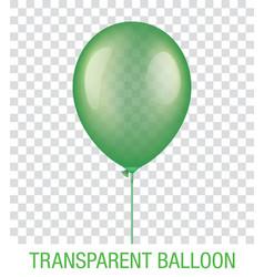 Transparent green ballon vector
